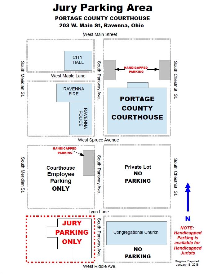 Jury Parking Map Image