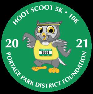 hoot scoot 5k, 10k owlbert cartoon running