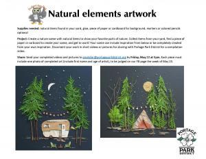 Natural elements artwork sheet