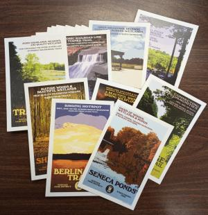 set of postcards display photo