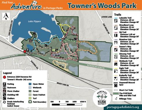 Towner's Woods Map