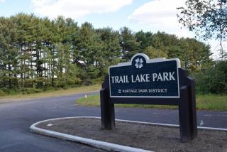 Trail Lake Park entrance sign photo