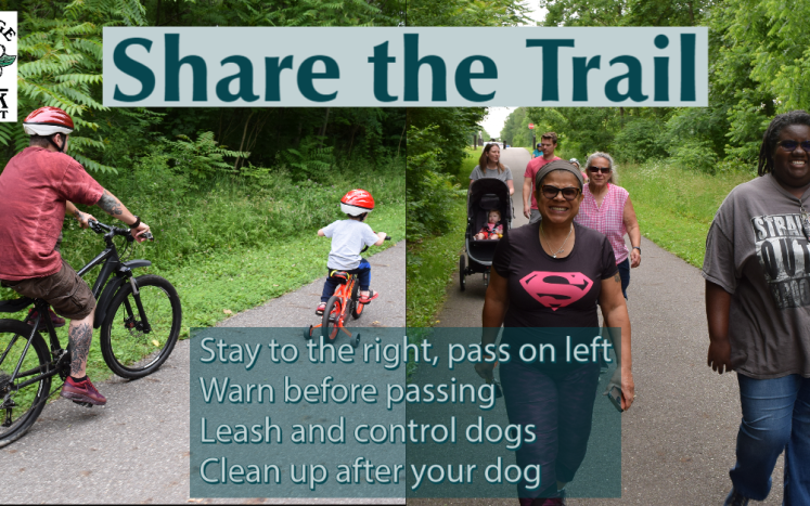 Share the trail image, trail etiquette